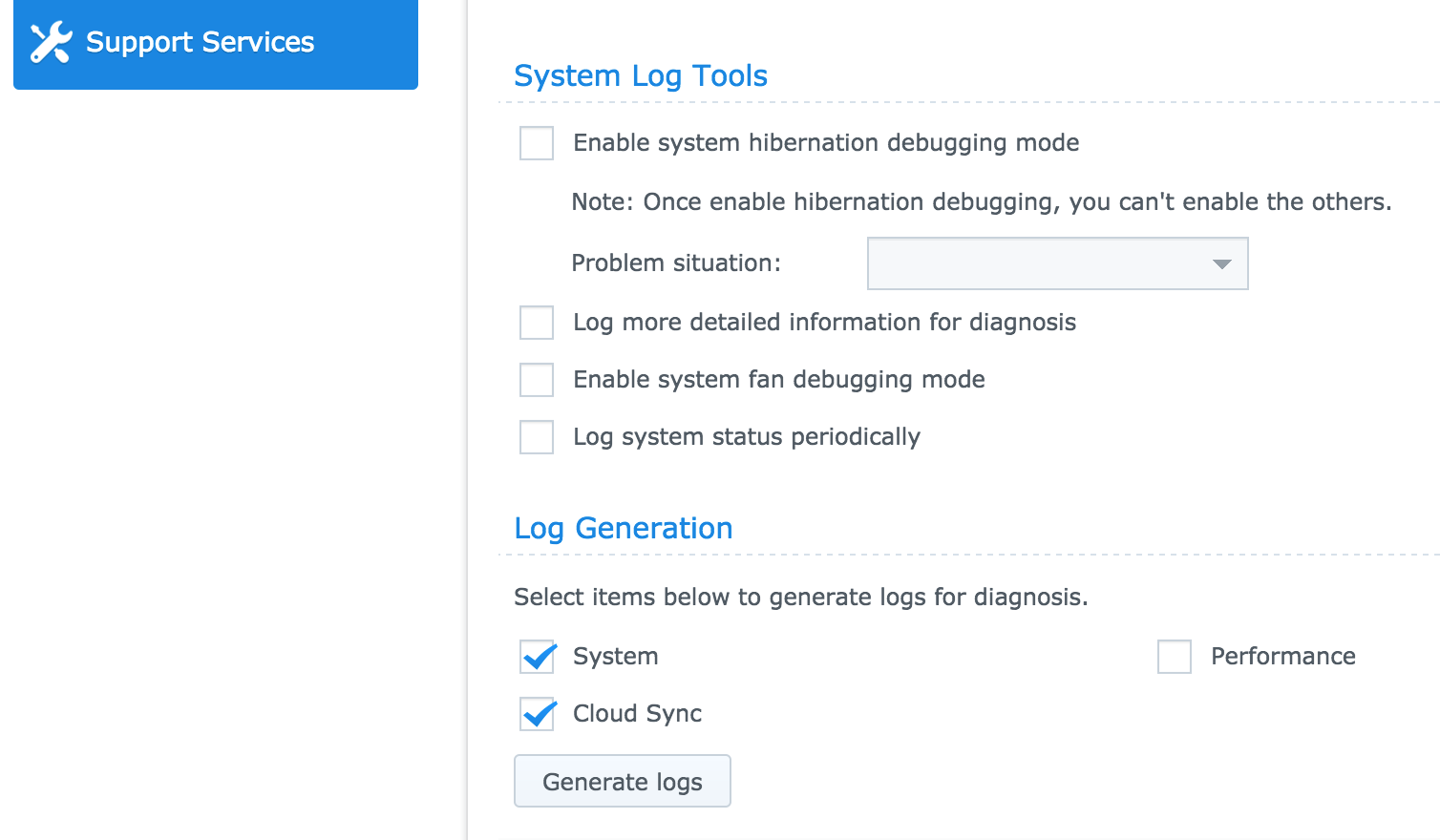 How to Gather Logs for CloudSync/Synology NAS – Help Desk