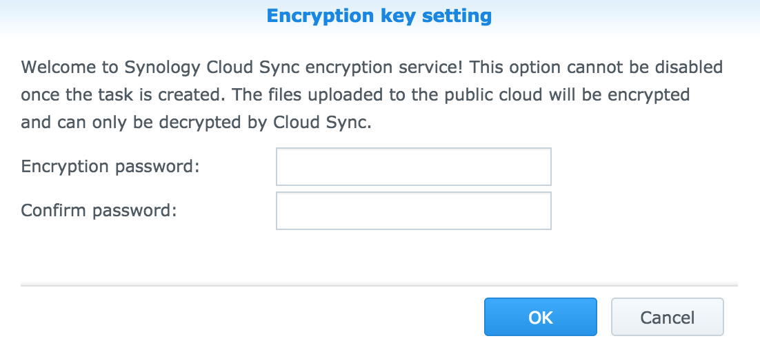 Encrypting and Decrypting files via Synology Cloud Sync – Help Desk